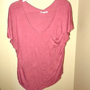 Pink stretchy tee - S